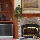 Fireplace Mantel & Side Cabinet