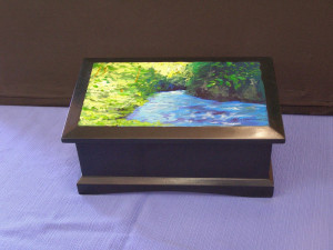 Jewelry Box with custom original artwork on lid.